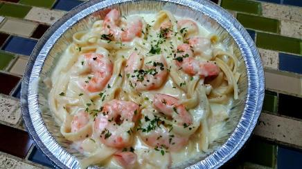 Fettuccine Alfredo with Shripms