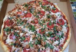 Chicken brushchetta pizza
